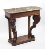 Antique William IV Mahogany Marble Top Console Table C 1835