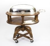 Antique Art Deco Elkington Silver Plated Beef Carving Trolley