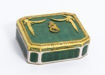Antique Russian Gilt bronze & Enamel Trinket Box C1780