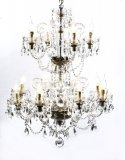 Vintage Venetian Two Tier 12 Light Crystal Chandelier