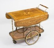 Vintage Italian Sorrento Marquetry Drinks Trolley C1960