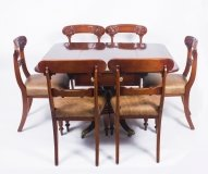 Antique Regency George III Pembroke Table Gillows & 6 Antique Chairs C1820