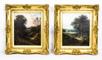 Antique Pair of oil Paintings Edwin Buttery 1839 1908