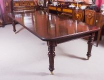 Antique 10 ft Flame Mahogany Extending Dining Table