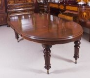 Antique 8ft Victorian Oval Extending Dining Table