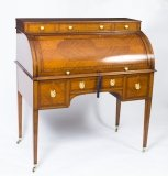 Antique Satinwood & Inlaid Bureau de Dame Desk 19th C