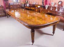Huge Bespoke Handmade 17ft Floral Marquetry Burr Walnut Dining Table