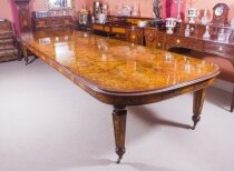 Huge Handmade 17ft Floral Marquetry Burr Walnut Bespoke Dining Table
