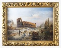 Antique Oil Painting François Gérard 1770 1837 of The Colosseum Circa 1820
