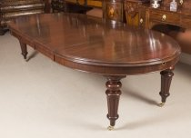 Antique 3 Meter Victorian Oval Flame Mahogany Extending Dining Table 19thC