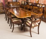 Vintage Dining Table by William Tillman, Harrods & 10 Chairs
