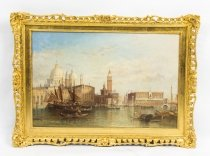 Antique Oil Painting Grand Canal Venice Alfred Pollentine 1888