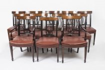 Antique Set 12 Victorian Dining Chairs by Edwards & Roberts C1880