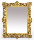 Antique Large Italian Gilded Florentine Mirror 18th Century 145 x 119 cm