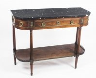 Antique French Charles X Directoire Console Table Marble Top