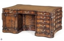 Superb George III style & 34 Althorp Partners Desk& 34 Flame Mahogany 20th C