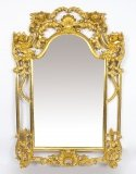 Beautiful Ornate Large Italian Gilded Decorative Mirror 161 x 111 cm