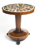 Antique William IV Pietra Dura Marble Top occasional table 19th C