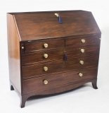 Antique English George III Mahogany Bureau 18thCentury
