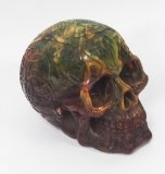 Stunning and Lifelike Multi Coloured Cast Skull