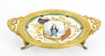 Antique French & 34 Japonesque& 34 Porcelain dish by Louis Pierre Malpass 19th C