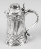 Antique George III Silver Tankard Peter & Anne Bateman London 1793