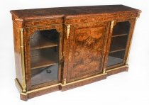 Antique Victorian Burr Walnut Inlaid Credenza Edwards & Roberts 19thC