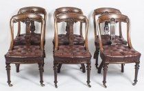 Antique Set 6 & 34 Athenian& 34 Design Mahogany Dining Chairs 19th Century
