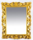 Antique Italian Giltwood Florentine Overmantle Mirror 19th Century 137 x 111cm