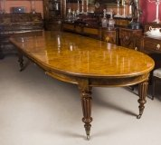 Antique Victorian Pollard Oak Extending Dining Table Early 19th Century