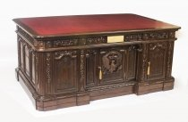 Monumental US Presidents Resolute Partners Desk 20th Century