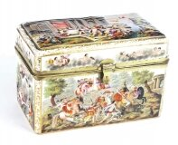 Antique Italian Large Capodimonte Porcelain Table Casket 19th C