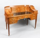 Antique Satinwood Carlton House Writing Desk Maple & Co 19th C