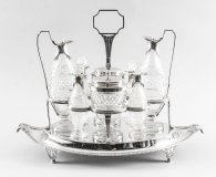 Antique English Silver Condiment Cruet Set Paul Storr 18th C