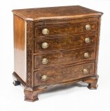 Bespoke Burr Walnut Crossbanded Chest with Slide