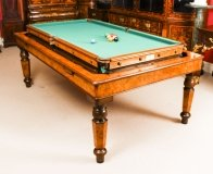 Antique Victorian Pollard Oak Rollover Snooker Dining Table 19th C
