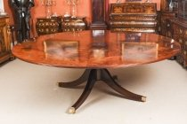 Vintage 7ft 4& 34 Diameter Flame Mahogany Jupe Dining Table. Mid 20th C