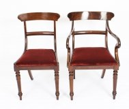 Antique Pair of Georgian Mahogany Desk Chairs 19th C