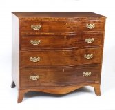 Antique Mahogany George III Serpentine Chest Drawers 18th Century