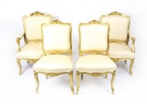Antique French Louis Revival Giltwood Four Piece Salon Suite 19th Century