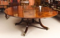 Vintage 6 ft 5& 34 diameter Regency Mahogany Dining Table William Tillman 20th C