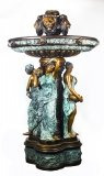 Monumental French Neo Classical Revival Bronze Sculptural Pond Fountain 20th C