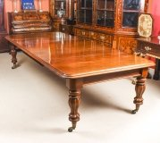Antique 10 ft Flame Mahogany Extending Dining Table 19th Century