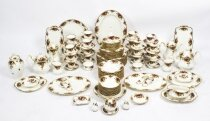 Royal Albert 150 Piece Country Roses Full Dinner Service Mid Century