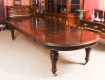 Antique Victorian Flame Mahogany D End Extending Dining Table 19th C