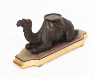 Antique Carved Wood Camel Stand Sculpture 19th C