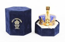 Vintage Cased Royal Crown Derby Commemorative Crown Paperweight 1990