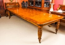 Antique Victorian Pollard Oak 12ft 4& 34 Extending Dining Table 19th Century