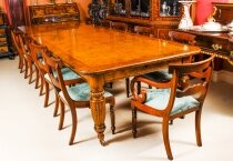 Antique Pollard Oak Victorian Extending Dining Table 19th C & 12 Barback Chairs