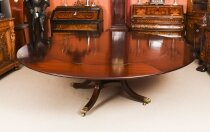 Vintage 7ft 4& 34 Diam Jupe Mahogany Dining Table by William Tillman 20th C